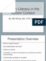 Health Literacy in the Autism Context