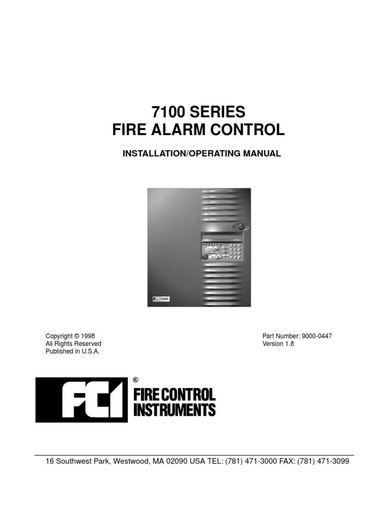 ... FCI 7100 Manual   Smoke   Amplifier Fci P Smoke Detector Wiring Diagram  on ...
