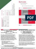 NJ Compost Operator Certification & Alternate Recycling Certification Programs – 2012-13