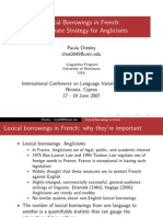 Lexical Borrowings French Chesley Slides