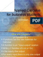 Applied Calculus for Business Students