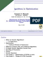 Genetic Algorithms InOptimization(PRESENTATION_LONG)