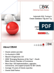 Automatic SQL Tuning in Oracle Database 10g and 11g
