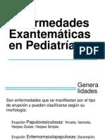 Enfermedades Exantematicas en Pediatría