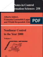 Nonlinear Control in the Year 2000 Volume 1 Lecture Notes in Control and Information Sciences