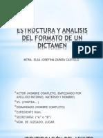 Estructura y Analisis Del Formato de Un Dictamen