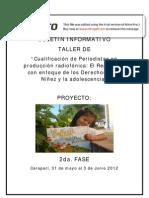 Boletin Taller Periodistas Carapari 2012
