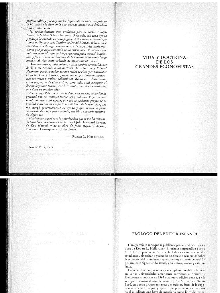 Economistas los pdf y grandes doctrina de vida heilbroner