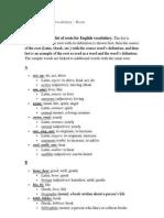 Roots & Prefixes