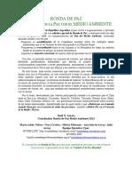 INVITACIÓN Ronda de Paz y Medio Ambiente 2012-1