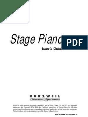 Kurzweil SP76-SP88 Manual | Synthesizer | Piano