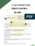 Manual Desbrozadora Sudiga BC490
