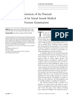 Limitations of National Protocol for Sexual Assault Exams