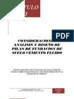 ANALISIS Y DISEÑO DE PILAS DE FUNDACION DE SUELO CEMENTO FLUIDO