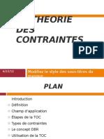 La Theorie Des Contraintes