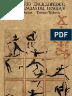 Tzvetan Todorov - Diccionario Enciclopedico de Las Ciencias Del Lenguaje