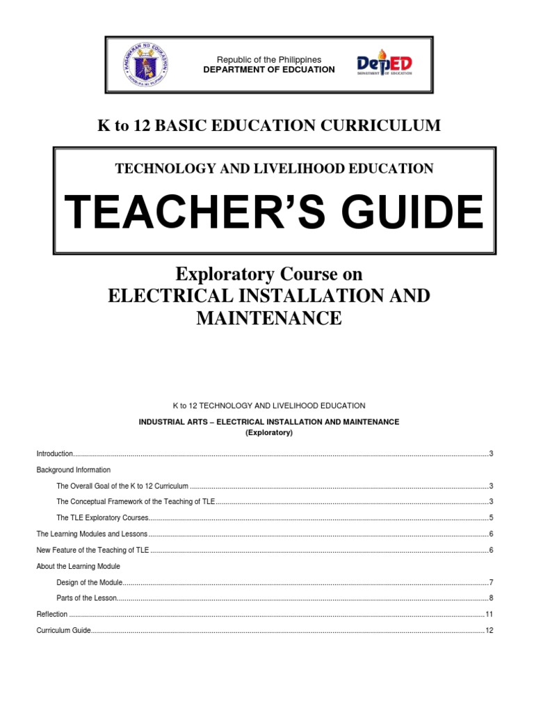 k to 12 Electrical Teacher\'s Guide | Occupational Safety And Health ...