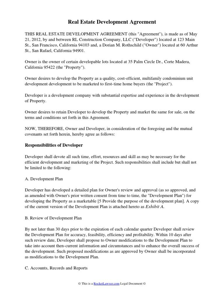 Real Estate Development Agreement Indemnity – Sample Subordination Agreement