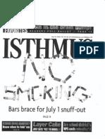 No Smoking Isthmus