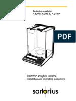 Satorius A210P Balance Users Manual