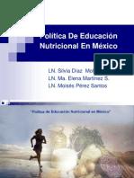 Política De Educación Nutricional En México