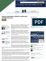 12-06-12 Llaman a autoridades a blindar economía ante volatilidad del peso