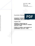 As 2124 2125 2127-1986 (Reference Use Only) General Conditions of Contract