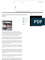 29-06-12 Rechazan diputados del PAN y del PRI aumentar impuesto a cigarrillos