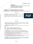 As 2282.14-1999 Methods for Testing Flexible Cellular Polyurethane Determination of Air Flow