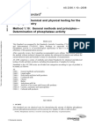 As 2300.1.10-2008 Methods of Chemical and Physical Testing for the Dairying Industry General Methods and Prin