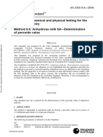 As 2300.8.6-2004 Methods of Chemical and Physical Testing for the Dairying Industry Anhydrous Milk Fat - Dete