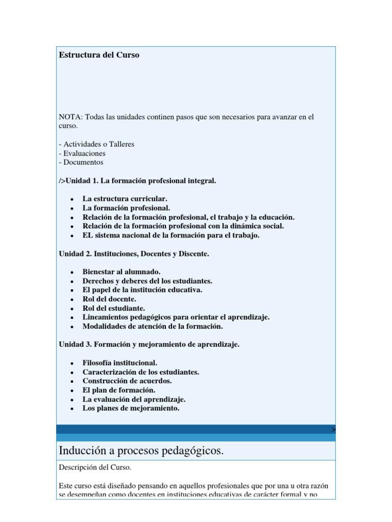 Introducion A Procesos Pedagogicos Docx Derecho Laboral