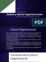 Cultura y Valores Organizacionales