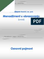 menadžment u odgoju i obrazovanju  - primjena funkcije savremenog menadžmenta