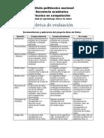 Rubrica de evaluacióndb2012
