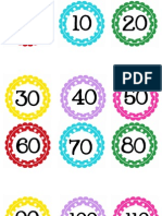 Circle Polka Dot Numbers 0-200 by 10's