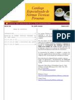 Normas Tecnicas Peruanas NTP CAFE