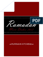 Muminahs Kitchen 2012 Ramadan recipes