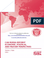Can Russia Reform? Economic, Political, and Military Perspectives