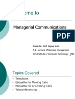 Managerial Communication Telephoning
