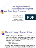Organizational Behaviour Group Think and Group Shift Origin