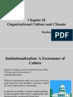 Organizational Behaviour Organizational Culture