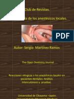 club de revistas .farmacologia de anestésicos locales.Sergio Mar´tinez.