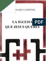 Lohfink Gerhard La Iglesia Que Jesus Queria