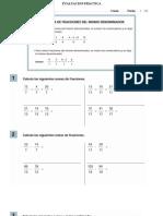 EVALUACION PRÁCTICA - Suma de fracciones homogeneas