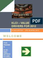 Klci Value Drivers 2012