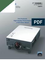 Panasonic PT-D3500U Brochure