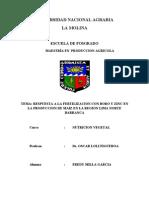 Final Respuesta a La Fertilizacion Con Boro y Zinc en La Produccion de Maiz en La Region Lima Norte