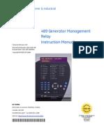 489 GE Generator Managment Relay