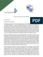 Traducción de la carta al Señor Van Rompuy 8 de junio de 2012 - Respecto Caso Conga